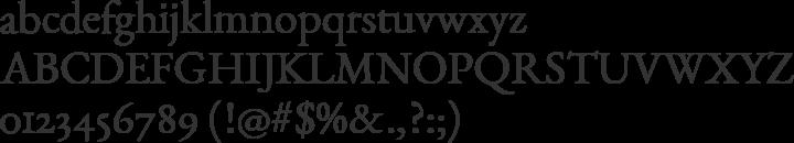 EB Garamond Font Specimen
