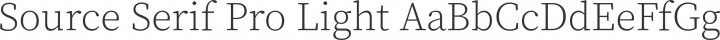 Source Serif Pro Light free font