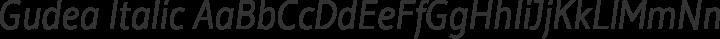 Gudea Italic free font