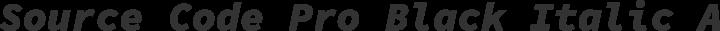Source Code Pro Black Italic free font