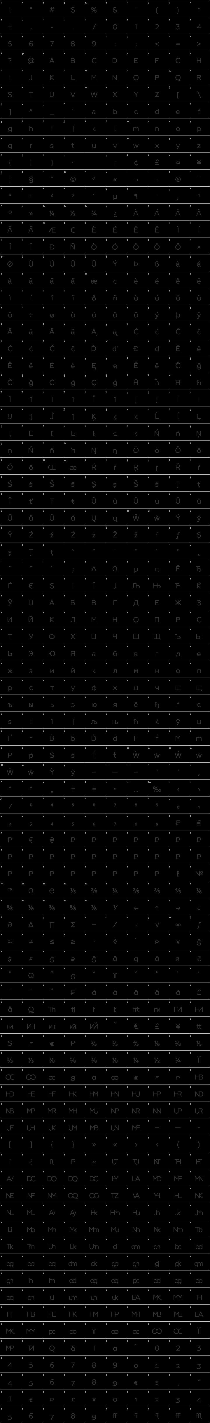 Geometria Glyph Map
