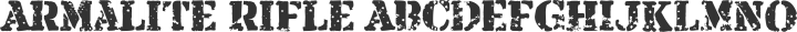 Armalite Rifle Regular free font