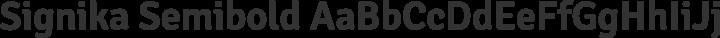 Signika Semibold free font