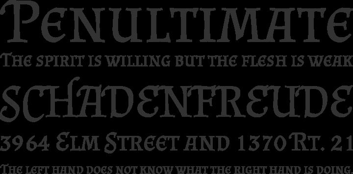 Almendra Font Phrases