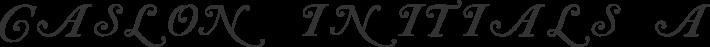 Caslon Initials font family by Paul Lloyd