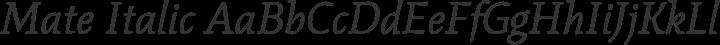 Mate Italic free font