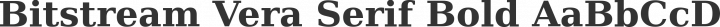 Bitstream Vera Serif Bold free font