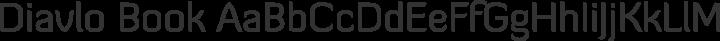 Diavlo Book free font
