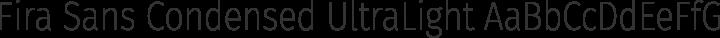 Fira Sans Condensed UltraLight free font