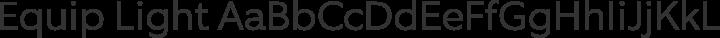 Equip Light free font