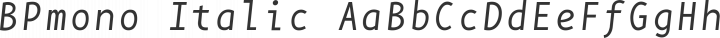 BPmono Italic free font