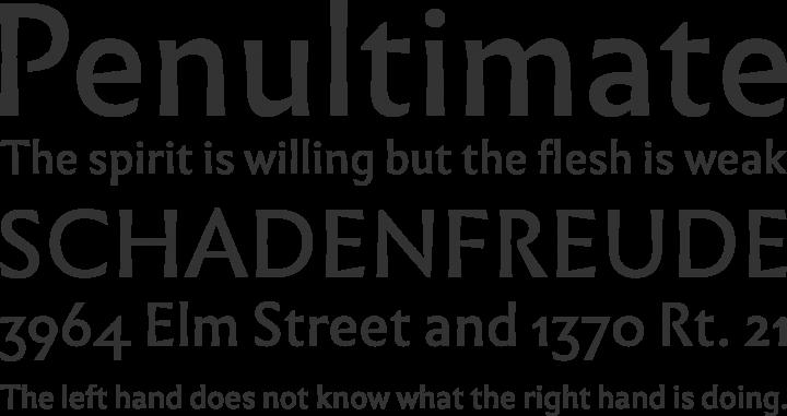 Infini Font Phrases