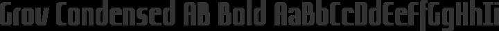Grov Condensed AB Bold free font