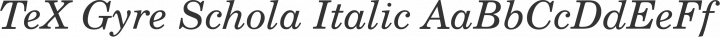 TeX Gyre Schola Italic free font