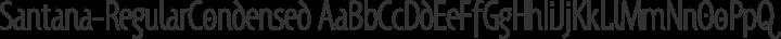 Santana-RegularCondensed Regular free font