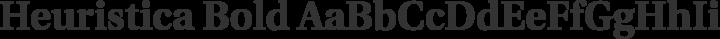 Heuristica Bold free font