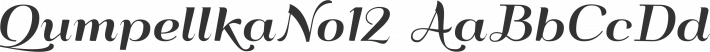 QumpellkaNo12 font family by GLUK fonts