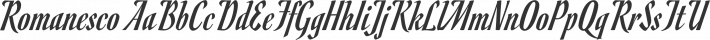 Romanesco font family by Astigmatic