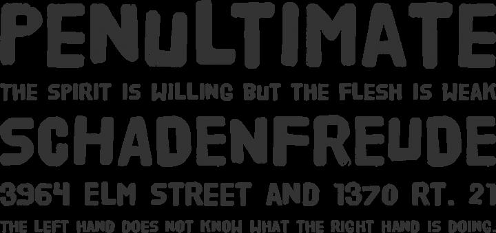 HVD Poster Font Phrases