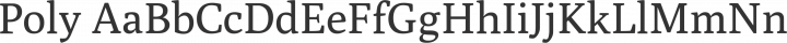 Poly Regular free font