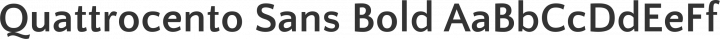 Quattrocento Sans Bold free font