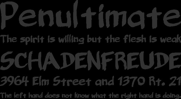 Belligerent Madness Font Phrases
