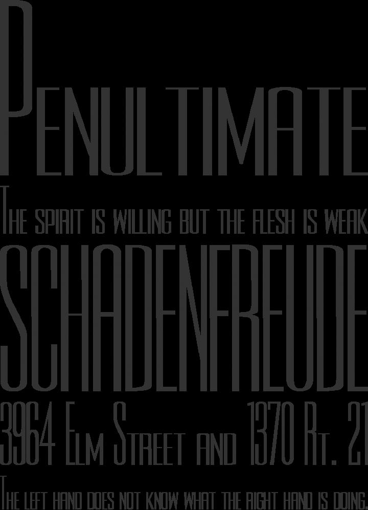 Rothman Font Phrases