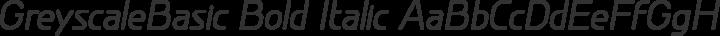 GreyscaleBasic Bold Italic free font