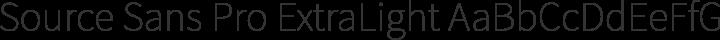 Source Sans Pro ExtraLight free font