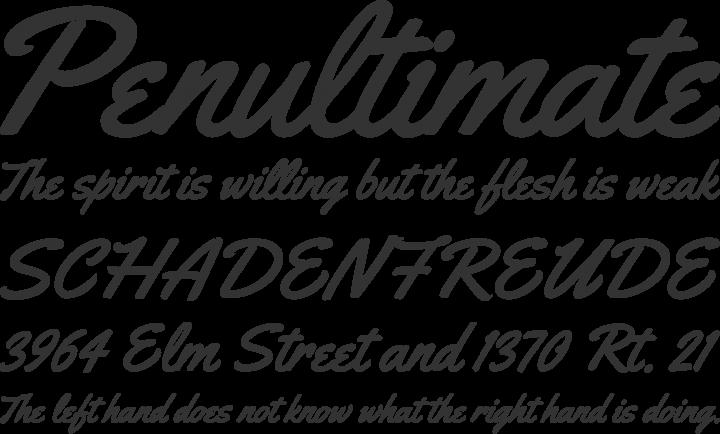 Yellowtail Font Phrases