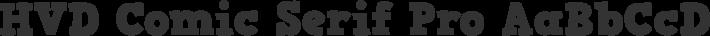 HVD Comic Serif Pro font family by HVD Fonts