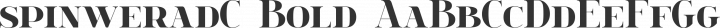 spinweradC Bold free font