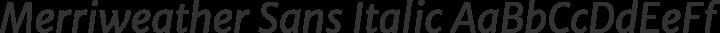 Merriweather Sans Italic free font