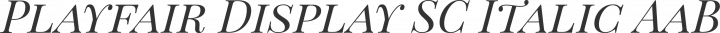 Playfair Display SC Italic free font