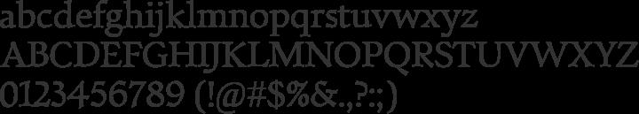 Walleye Font Specimen
