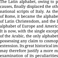 Droid Serif 12pt paragraph