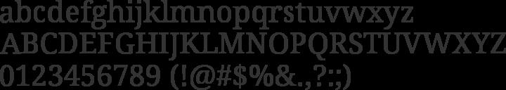 Droid Serif Font Specimen
