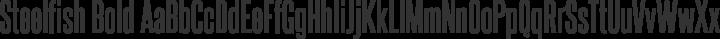 Steelfish Bold free font