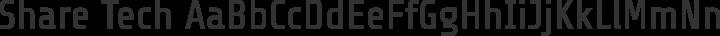 Share Tech free font