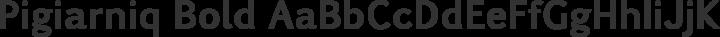 Pigiarniq Bold free font