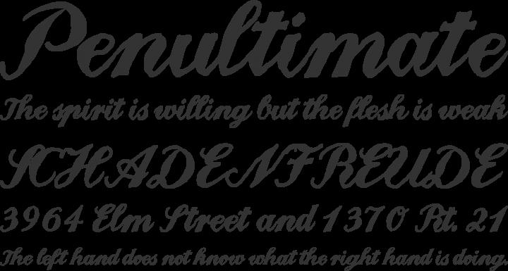 Landliebe Font Phrases