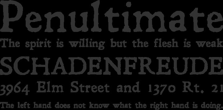Leander Font Phrases
