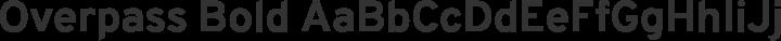 Overpass Bold free font