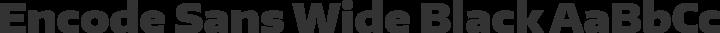 Encode Sans Wide Black free font