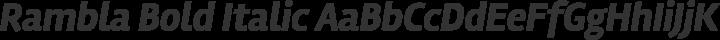Rambla Bold Italic free font