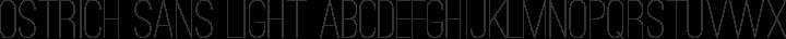 Ostrich Sans Light free font