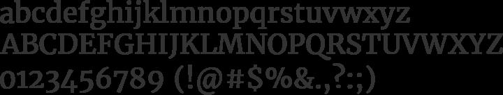 Merriweather Font Specimen