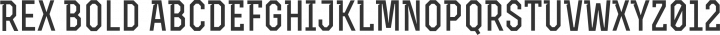 Rex Bold free font