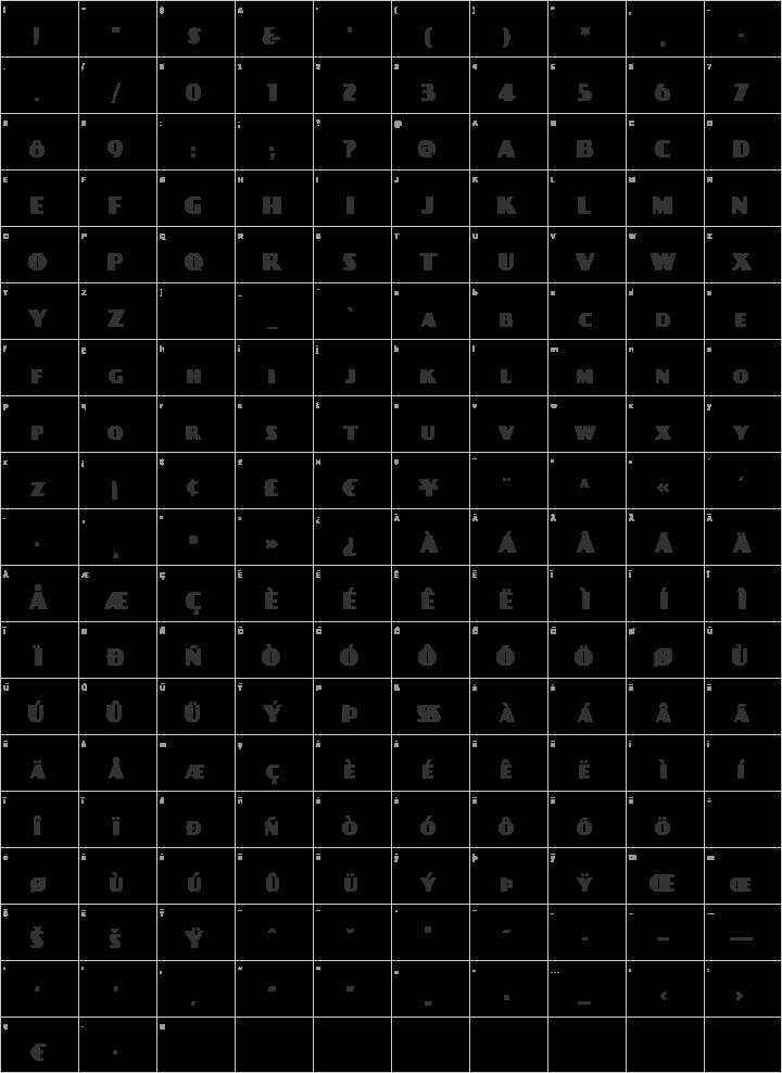 DayPosterBlack Glyph Map