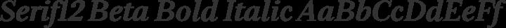 Serif12 Beta Bold Italic free font